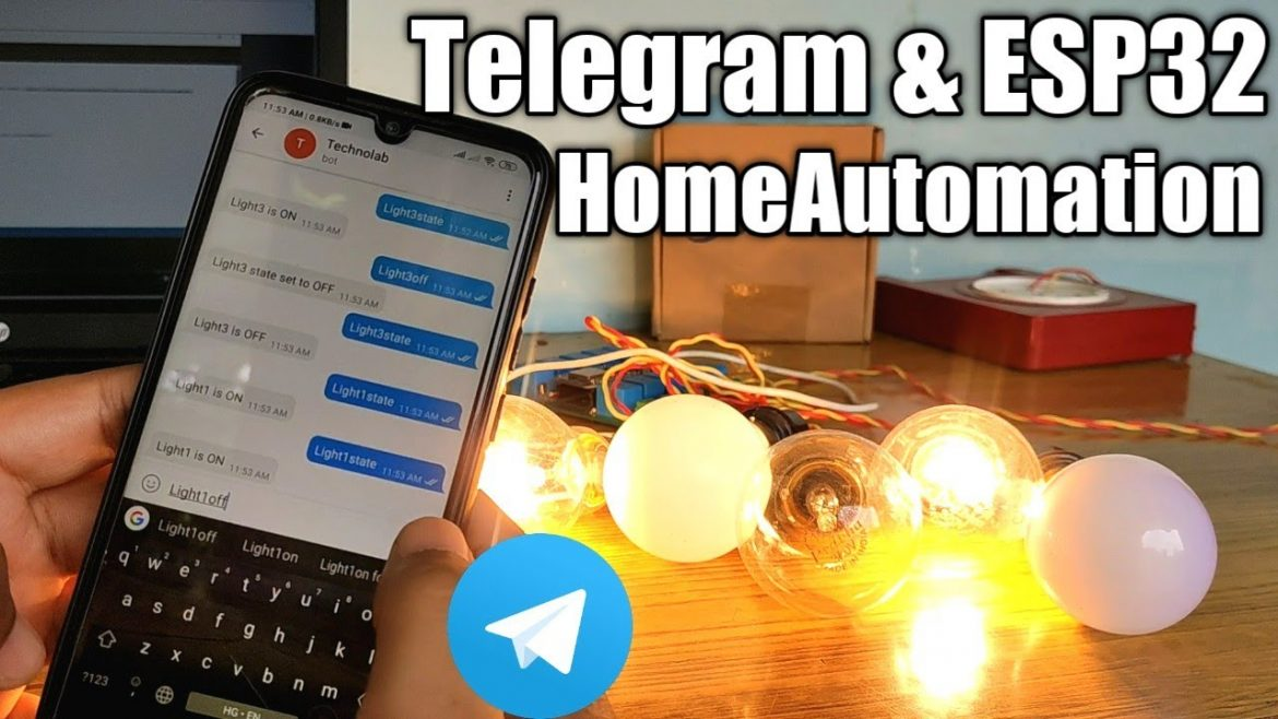 HomeAutomation System Using Telegram & ESP32 with feedback.