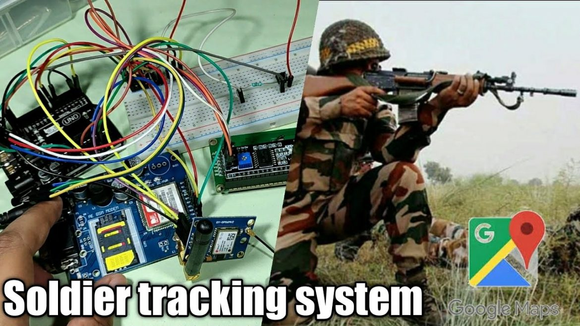 Soldier Health And Position Tracking System Using Arduino,GSM Module and GPS Module.