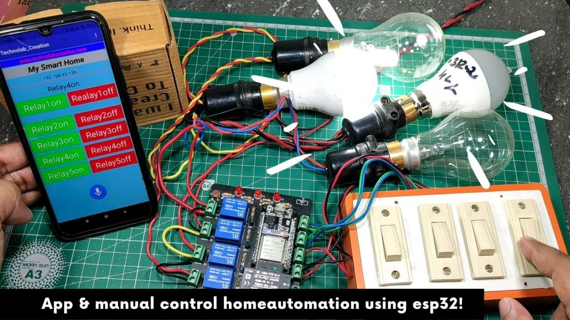 Android APP & Manual Control Homeautomation using ESP32