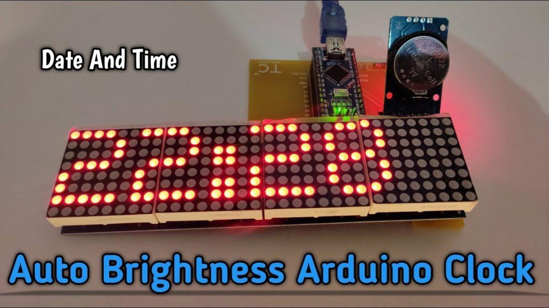 Arduino Nano Clock With Auto Brightness.